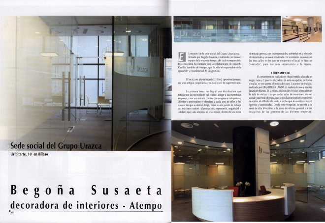 Proyecto diseño de oficinas de SUBE en la revista Decoración