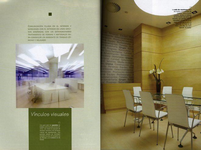 """Diseño de oficinas en """"ESPACIOS"""" Guía de interiorismo País Vasco"""