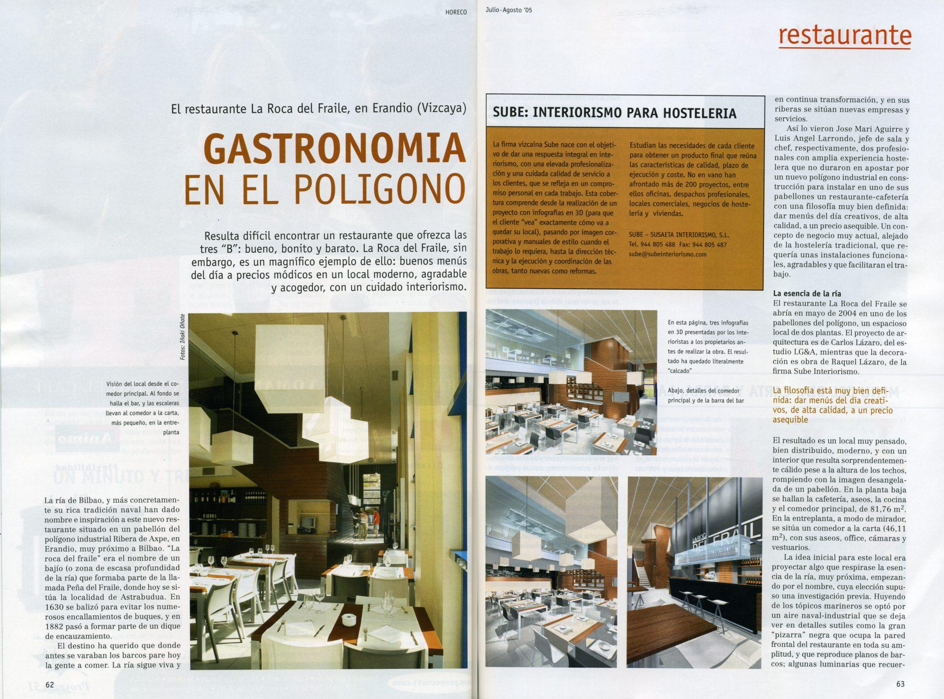 Decoración restaurante y cafetería en Erandio (Horeco)