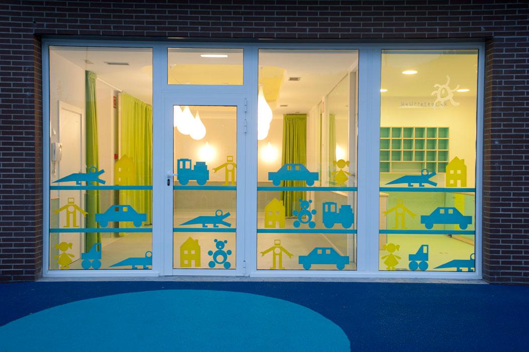 Fotografía exterior escuela infantil diseñada por Sube Susaeta Interiorismo