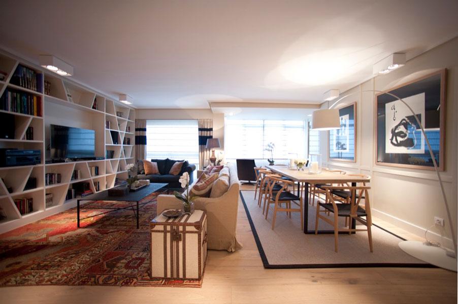 Sube Susaeta Interiorismo www.subeinteriorismo.com realiza la decoracion de vivienda en Bilbao, reforma integral. Salón comedor moderno