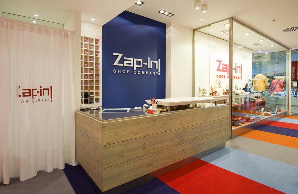interiorismo comercial, decoración zapaterías
