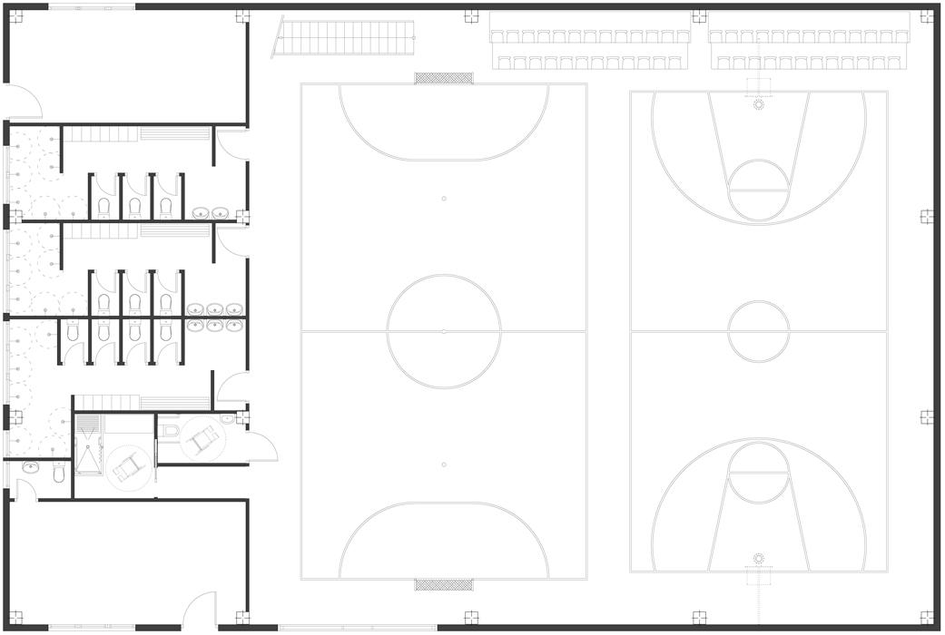 diseño espacios singulares gimnasio en Gorliz