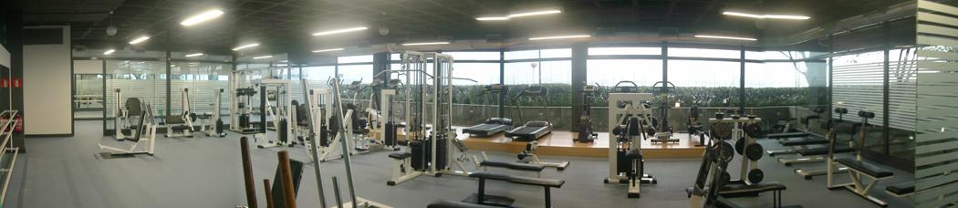 diseño gimnasio Club Marítimo el Abra Getxo SUBE
