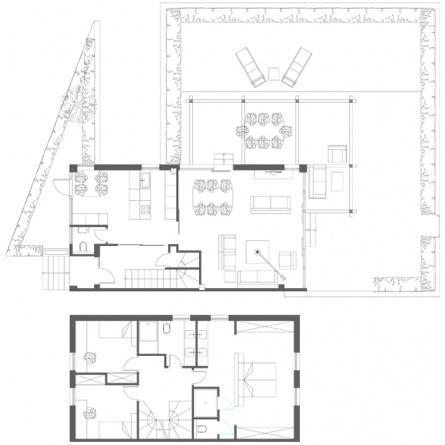 Reformas integrales: vivienda con terraza y jardín en Laukariz