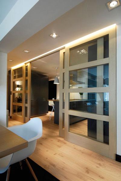 Diseño puertas correderas para salón en Araba por SuBe Susaeta Interiorismo