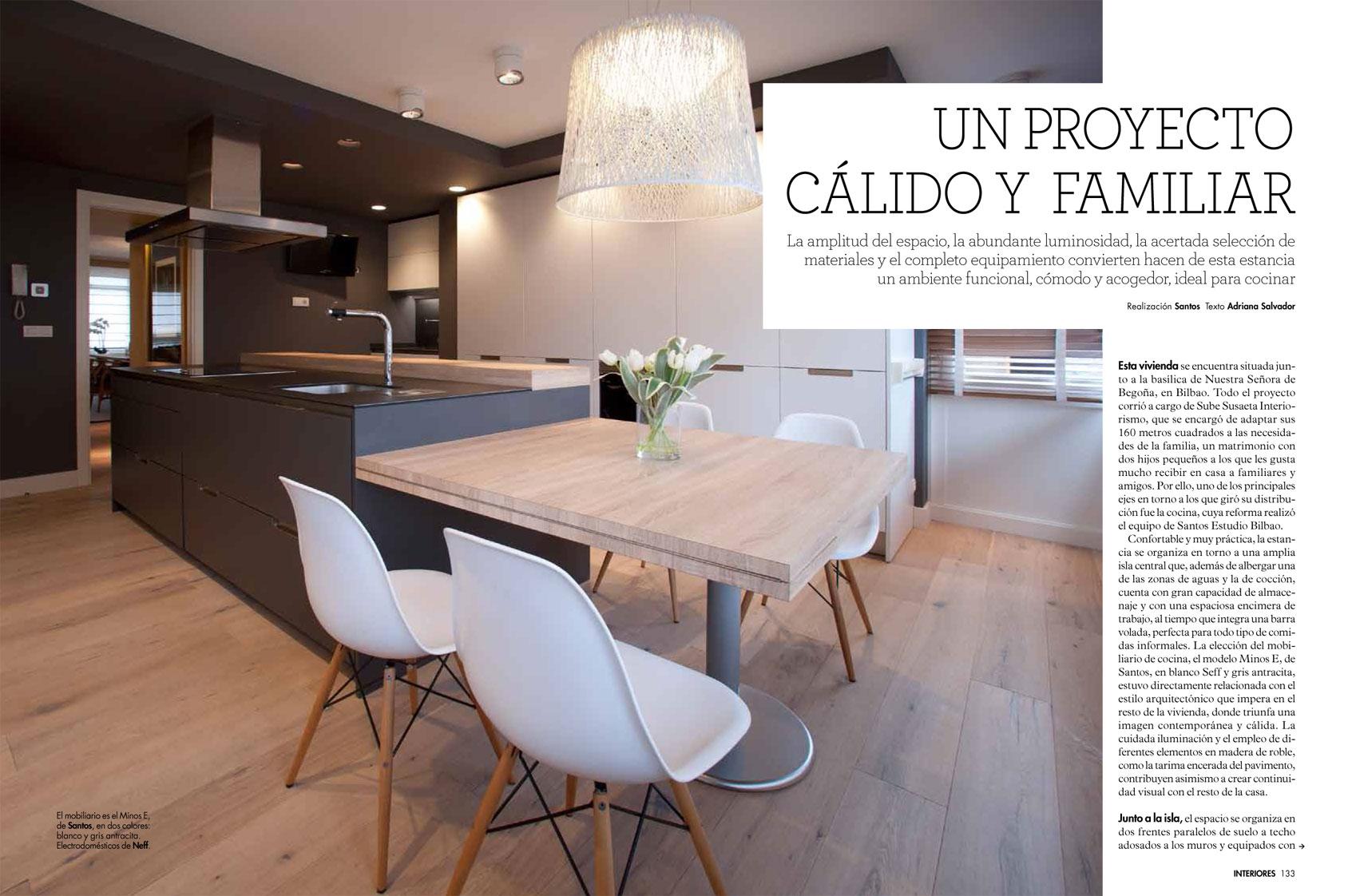 Revista Interiores cubre la reforma integral de vivienda de SUBE