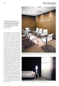 """Revista Decoración & Tendencias: Sube Susaeta Interiorismo """"Saber hacer"""". Artículo sobre el interiorismo de despacho de abogados en Bilbao. Diseño interior salas de reunion"""