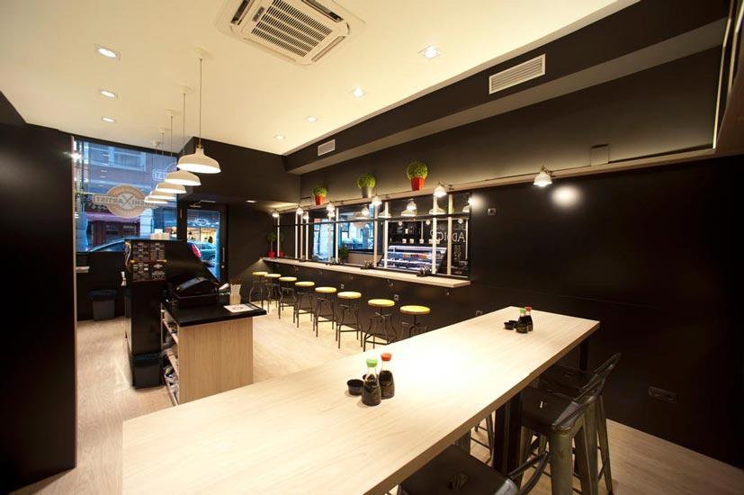 Sube Susaeta Interiorismo diseño interior take-away japones