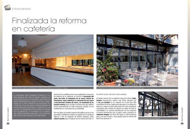 Sube Susaeta Interiorismo cafetería del Real Club Jolaseta de Getxo, Vizcaya