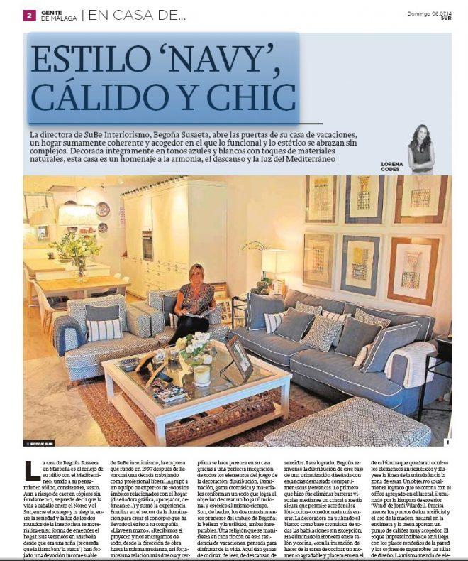 La casa de veraneo de Begoña Susaeta en Marbella en Gente Málaga