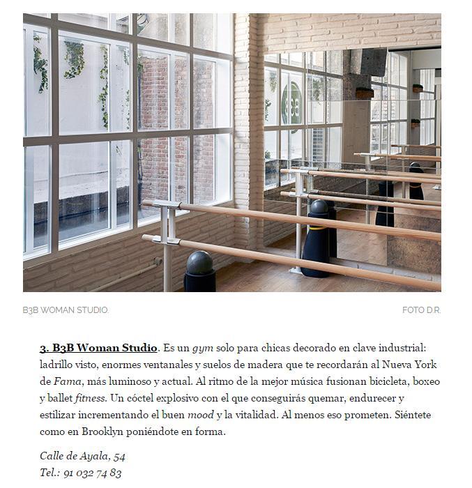 b3b woman studio madrid SUBE Interiorismo
