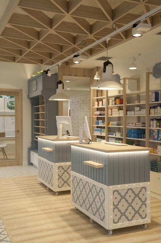 Diseño de farmacia Sube Interiorismo, en DiarioDesign