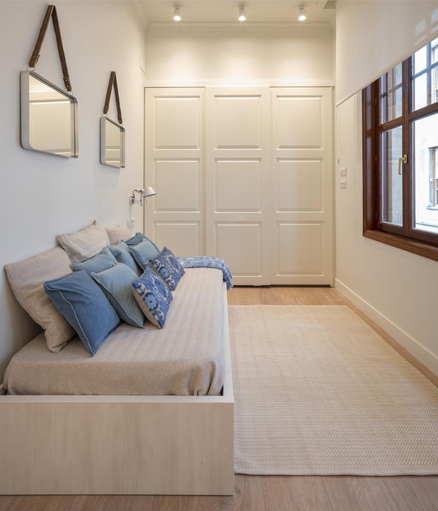 Diseño interior de dormitorio de visitas, por Sube Interiorismo
