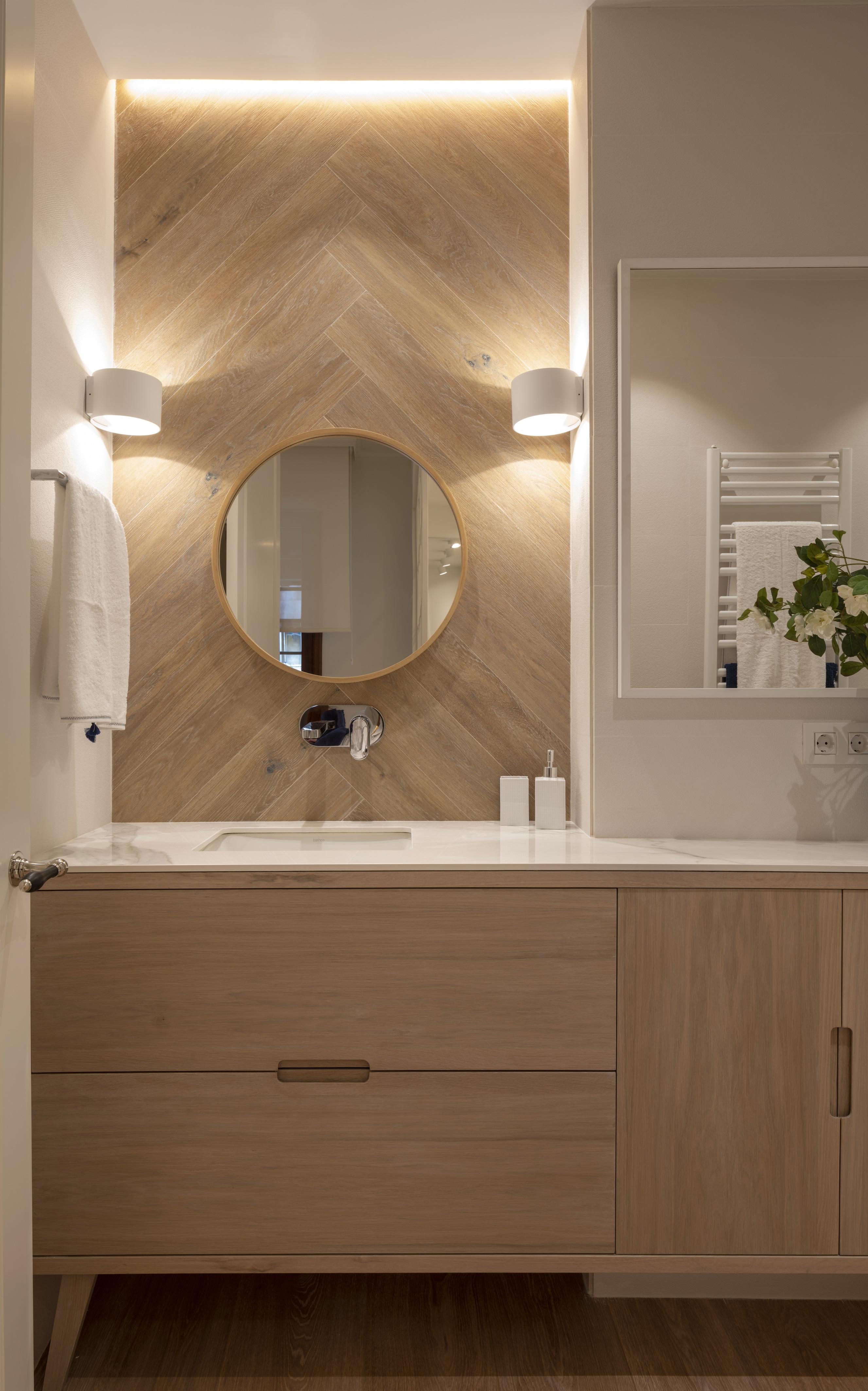 Diseño de cuarto de baño en reforma integral de vivienda, Sube Interiorismo