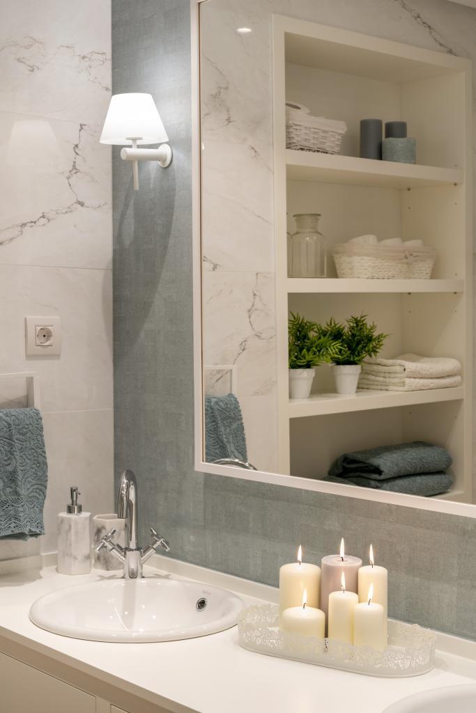 Diseño de cuarto de baño principal - Sube Interiorismo